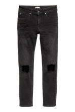 Super Skinny Trashed Jeans - Black denim - Men | H&M CN 2