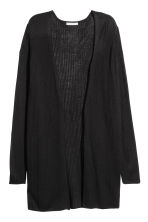 Rib-knit cardigan - Black - Ladies | H&M 2