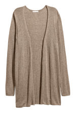 Rib-knit cardigan - Mole - Ladies | H&M 2