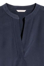 H&M+ Silk blouse - Dark blue - Ladies | H&M CN 3