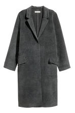 Felted coat - Dark grey - Ladies | H&M CN 2