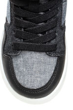 Hi-top trainers - Black/White marl - Kids | H&M 3