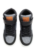 Hi-top trainers - Black/White marl - Kids | H&M 2