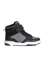 Hi-top trainers - Black/White marl - Kids | H&M 1