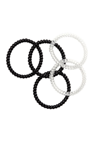 5-pack hair elastics - Black - Ladies | H&M CN 1