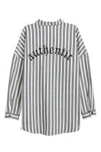Wide cotton shirt - White/Striped - Ladies | H&M 3
