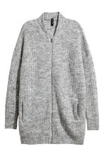 Rib-knit cardigan - Grey - Ladies | H&M 2