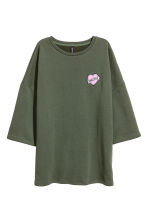 Oversized sweatshirt - Khaki green - Ladies | H&M CN 2
