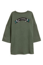 Oversized sweatshirt - Khaki green - Ladies | H&M CN 3