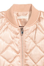 Quilted satin bomber jacket - Powder - Ladies | H&M 3