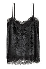 Top in velluto riccio - Nero - DONNA | H&M IT 2