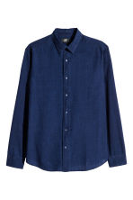 Shirt Regular fit - Dark denim blue - Men | H&M 2