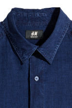 Shirt Regular fit - Dark denim blue - Men | H&M 3