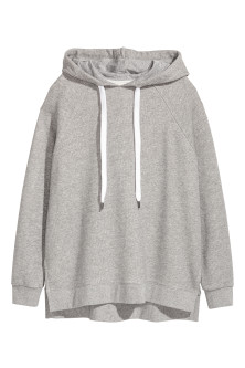Oversized hooded top