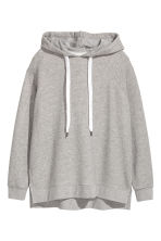 Oversized hooded top - Grey marl - Ladies | H&M 2