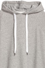 Oversized hooded top - Grey marl - Ladies | H&M 3