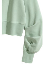 Cropped sweatshirt - Mint green - Ladies | H&M 3