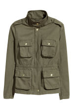 Utility jacket - Khaki green - Ladies | H&M GB 2