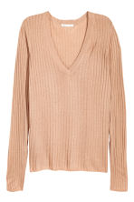 Rib-knit jumper - Beige - Ladies | H&M CN 2
