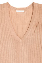 Rib-knit jumper - Beige - Ladies | H&M CN 3