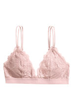 Padded triangle bra - Pink - Ladies | H&M 2