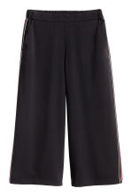 Culottes with side stripes - Black - Ladies | H&M CN 2