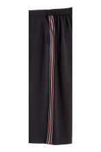 Culottes with side stripes - Black - Ladies | H&M CN 4