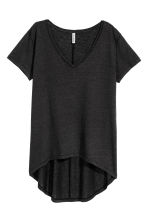 V-neck jersey top - Black - Ladies | H&M CA 2