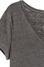 V-neck jersey top - Dark grey - Ladies | H&M 4