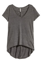 V-neck jersey top - Dark grey - Ladies | H&M 3