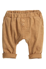 Slub jersey trousers - Dark beige - Kids | H&M 1