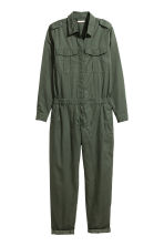 H&M+ Lyocell-blend jumpsuit - Dark khaki green - Ladies | H&M CN 2