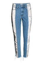 Slim Metallic-print Jeans - Denim blue/Silver - Ladies | H&M 2