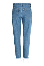 Slim Metallic-print Jeans - Denim blue/Silver - Ladies | H&M 3
