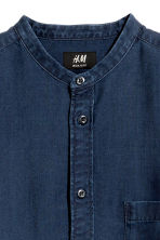 Camicia coreana Regular fit - Blu denim scuro - UOMO | H&M IT 3