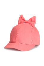Cap with a bow - Coral - Kids | H&M 1