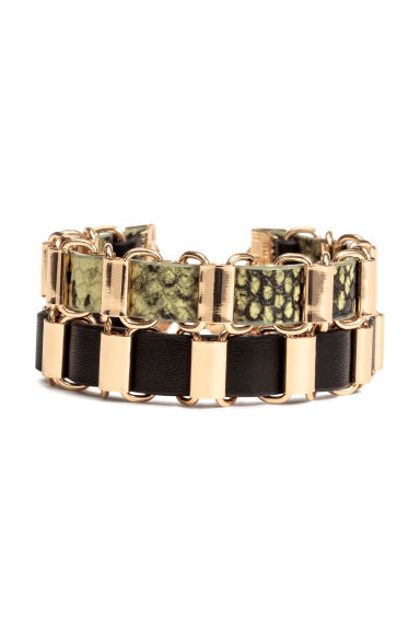2-pack bracelets - Gold/Black - Ladies | H&M