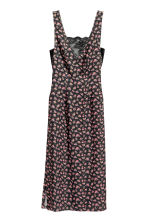 V-neck dress - Black/Floral - Ladies | H&M CA 2