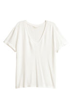 Top in jersey scollo a V - Bianco - DONNA | H&M IT 2