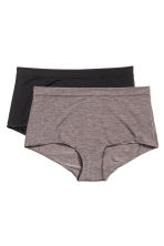 2-pack shortie briefs - Mole - Ladies | H&M CN 1