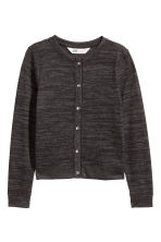 Fine-knit cardigan - Black marl -  | H&M 2
