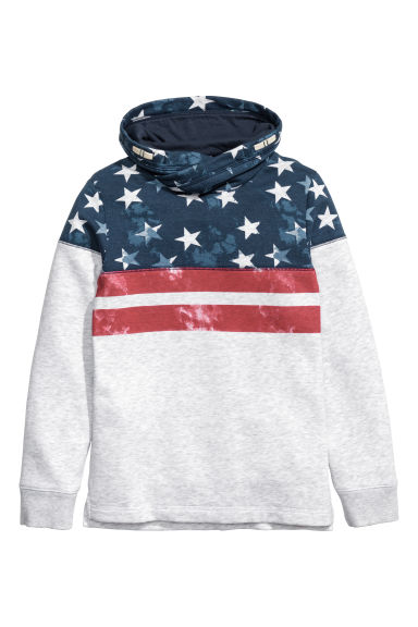 Funnel-collar sweatshirt - Dark blue/Stars - Kids | H&M CN