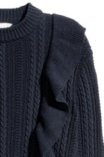 Pattern-knit jumper - Dark blue - Ladies | H&M 3