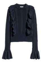 Pattern-knit jumper - Dark blue - Ladies | H&M 2