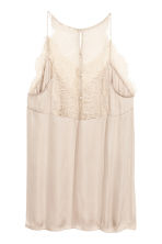 Top à encolure en V en satin - Beige clair - FEMME | H&M FR 3