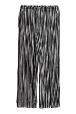 Pleated trousers - Black/White/Striped - Ladies | H&M 2