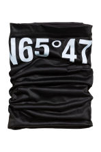Fleece and jersey tube scarf - Black - Ladies | H&M CN 1