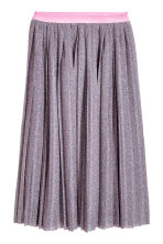 Pleated skirt - Pink/Glittery - Ladies | H&M CN 2