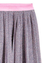 Pleated skirt - Pink/Glittery - Ladies | H&M CN 3