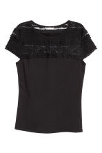 Lace top - Black - Ladies | H&M 2